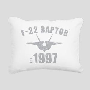 varsity-f22-97-gray Rectangular Canvas Pillow