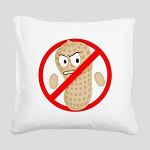 Angry_Peanut_Tshirt Square Canvas Pillow
