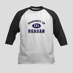 Property of reagan Kids Baseball Jersey