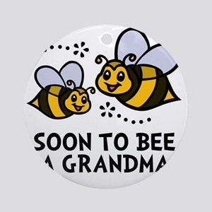 Soon 2bee Grandma Round Ornament