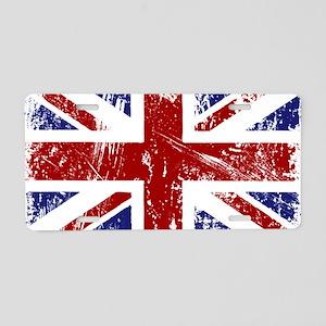 British Flag Punk Grunge Aluminum License Plate