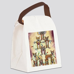 Fur tree Canvas Lunch Bag