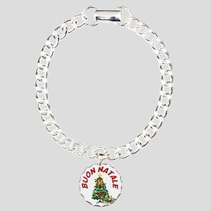buon natale aa Charm Bracelet, One Charm