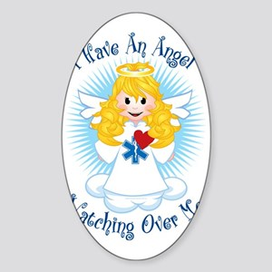 Angel-Watching-Over-Me-EMT Sticker (Oval)