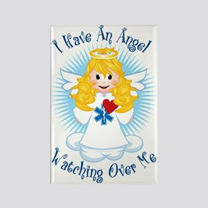 Angel-Watching-Over-Me-EMT Rectangle Magnet