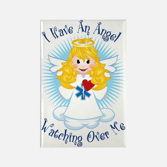 Angel-Watching-Over-Me-EMT Rectangle Magnet