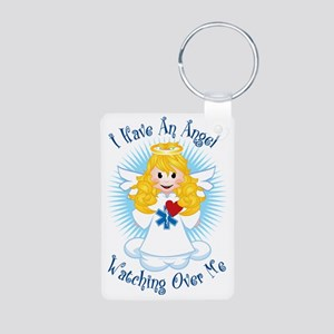 Angel-Watching-Over-Me-EMT Aluminum Photo Keychain