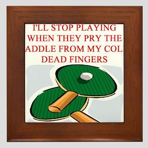 table tennis joke Framed Tile