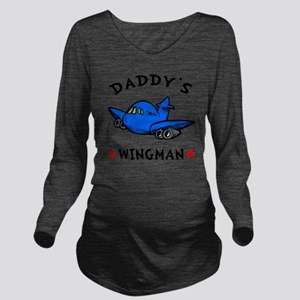 Daddys Wingman Long Sleeve Maternity T-Shirt