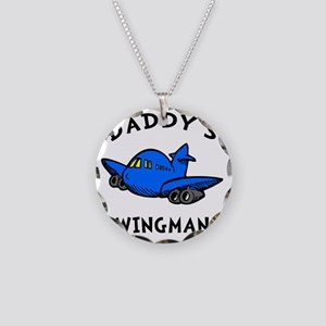 Daddys Wingman Necklace Circle Charm