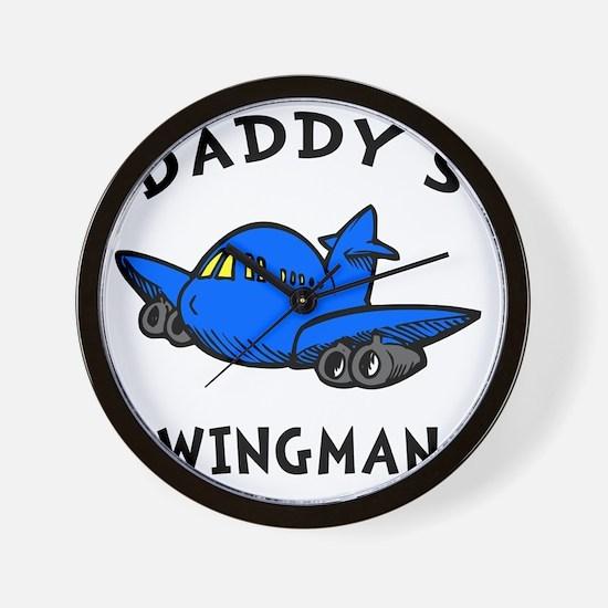 Daddys Wingman Wall Clock