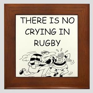 rugby gifts Framed Tile