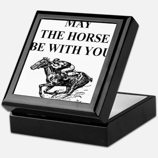 i love horse racing Keepsake Box