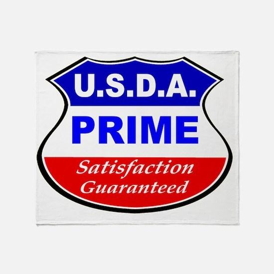 USDA- Black Throw Blanket