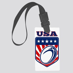 American rugby ball shield USA Large Luggage Tag