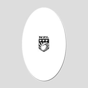 rugby ball kiwi shield new z 20x12 Oval Wall Decal