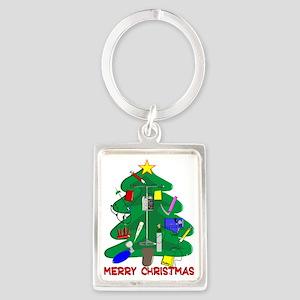 Merry Christmas Medical Portrait Keychain