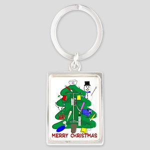 Merry Christmas NURSE TREE Portrait Keychain