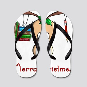 Reindeer Teacher Flip Flops