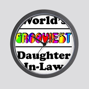 Grooviest_Daughter-In-Law Wall Clock