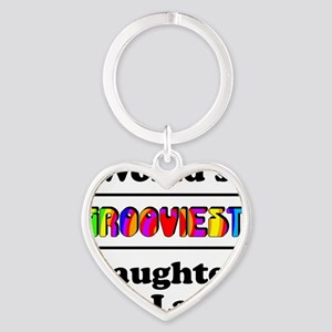 Grooviest_Daughter-In-Law Heart Keychain