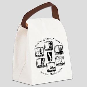 back12x12-black Canvas Lunch Bag