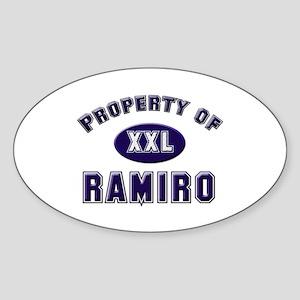 Property of ramiro Oval Sticker