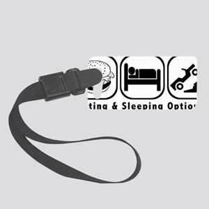 EatSleepCrawl BLACK Small Luggage Tag