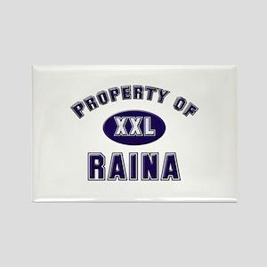 Property of raina Rectangle Magnet