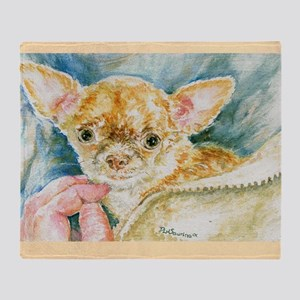 All Ears with beige background copy Throw Blanket