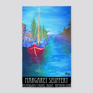 Amsterdam Boat Large Poster signed  3'x5' Area Rug