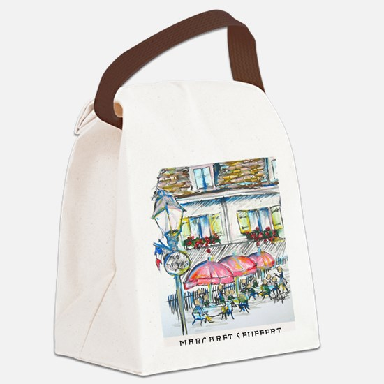 montmartre small poster Canvas Lunch Bag