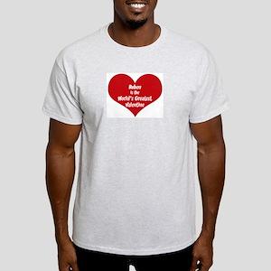 Greatest Valentine: Ruben Ash Grey T-Shirt