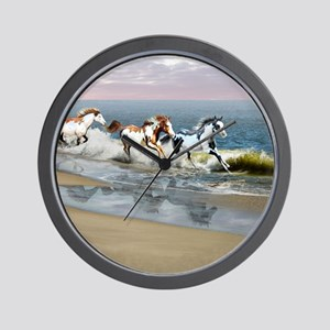 Painted Ocean Wall Clock