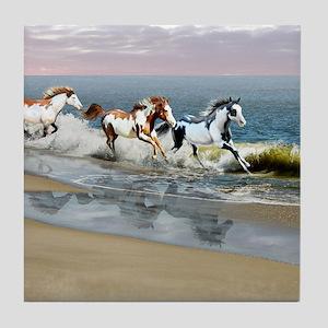 Painted Ocean Tile Coaster