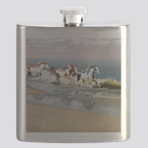 Painted Ocean Flask