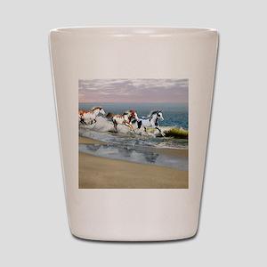 Painted Ocean Shot Glass