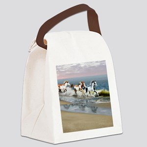 Painted Ocean Canvas Lunch Bag