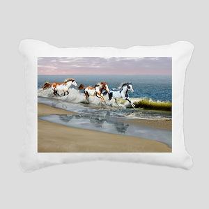 Painted Ocean Rectangular Canvas Pillow