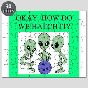 funny alien ufo area 51 bowling joke Puzzle