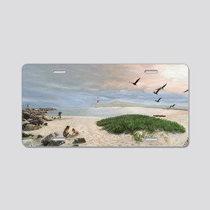 Half Moon Bay Painting Aluminum License Plate