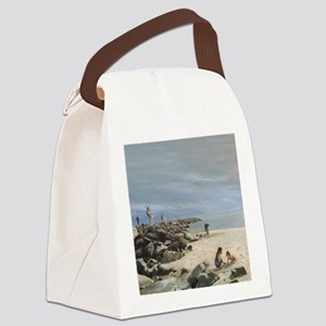Half Moon Bay Painting Section Canvas Lunch Bag