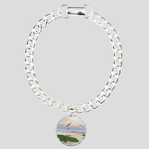 Half Moon Bay Painting S Charm Bracelet, One Charm