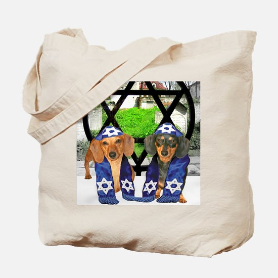 tiger and lily jewish12x16 Tote Bag