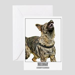 nice doggy Greeting Card