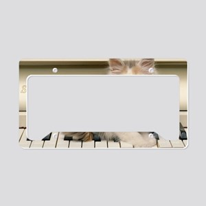 piano kitten L print License Plate Holder