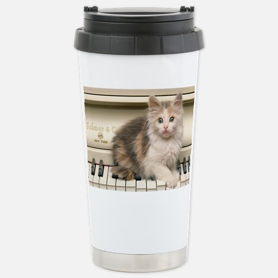 piano Norwegian kitten Stainless Steel Travel Mug