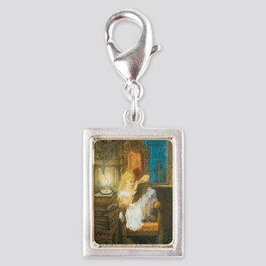 The Scary Story Silver Portrait Charm