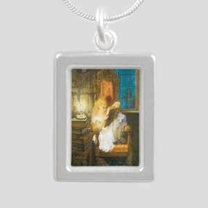 The Scary Story Silver Portrait Necklace