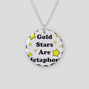 Metaphors Necklace Circle Charm